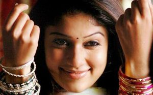 Nayanthara with thin eyebrows
